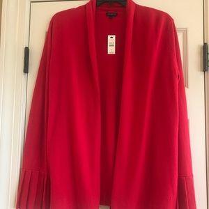 Talbots dark pink cardigan sweater w/ pleated cuff